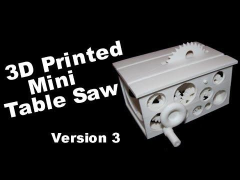 3D Printed Mini Table Saw - Four Gear Version