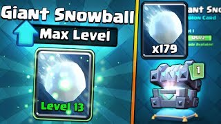 FULLY MAXED GIANT SNOWBALL UPGRADE! | Clash Royale | CHEST OPENING SPREE & MAX SNOWBALL GAMEPLAY