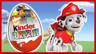 Щенячий патруль. Киндер сюрприз. Unboxing Kinder Surprise. PAW Patrol.
