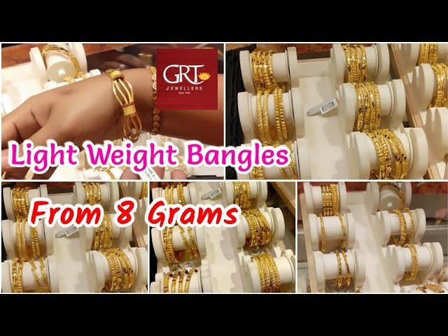 Grt Light Weight Bangles From 8 Grams