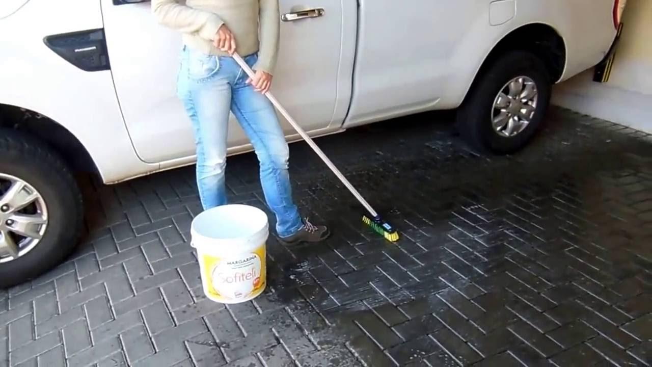 Pintura em piso concreto paver fica muito bom youtube - Pintura para pintar piso de cemento ...