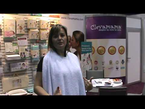 Clevamamma Hands Free Splash And Wrap Baby Bath Towel Abc Kids
