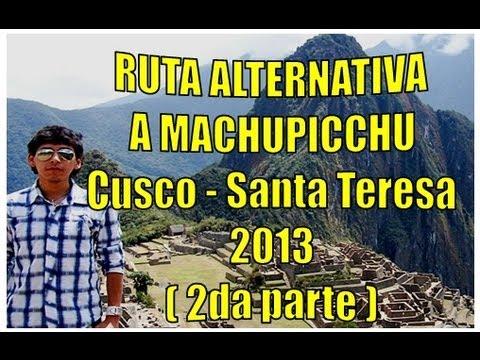 Ruta Alternativa a Machu Picchu (2 /2) Hidroelectrica - Machu Picchu pueblo caminata rieles de tren