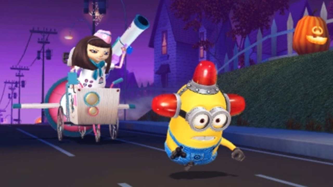 Despicable Me Minion Rush : Bee-do Minion VS Meena In Halloween Residential Area