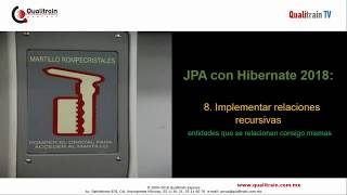 Hibernate 2018: 8.Relaciones recursivas paso a paso con JPA