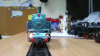 паровоз бр 801 пико  проба с дымогенератором