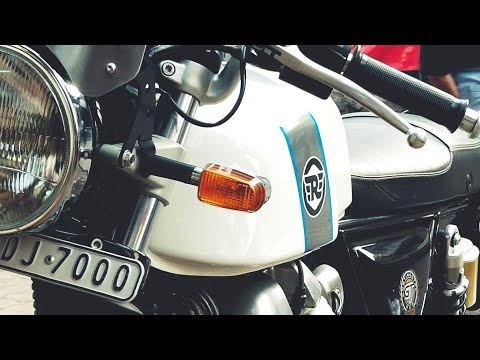 HOW TO LUBE AND CLEAN THE CHAIN! CONTINENTAL GT 650! WITH DEVANSH VINES