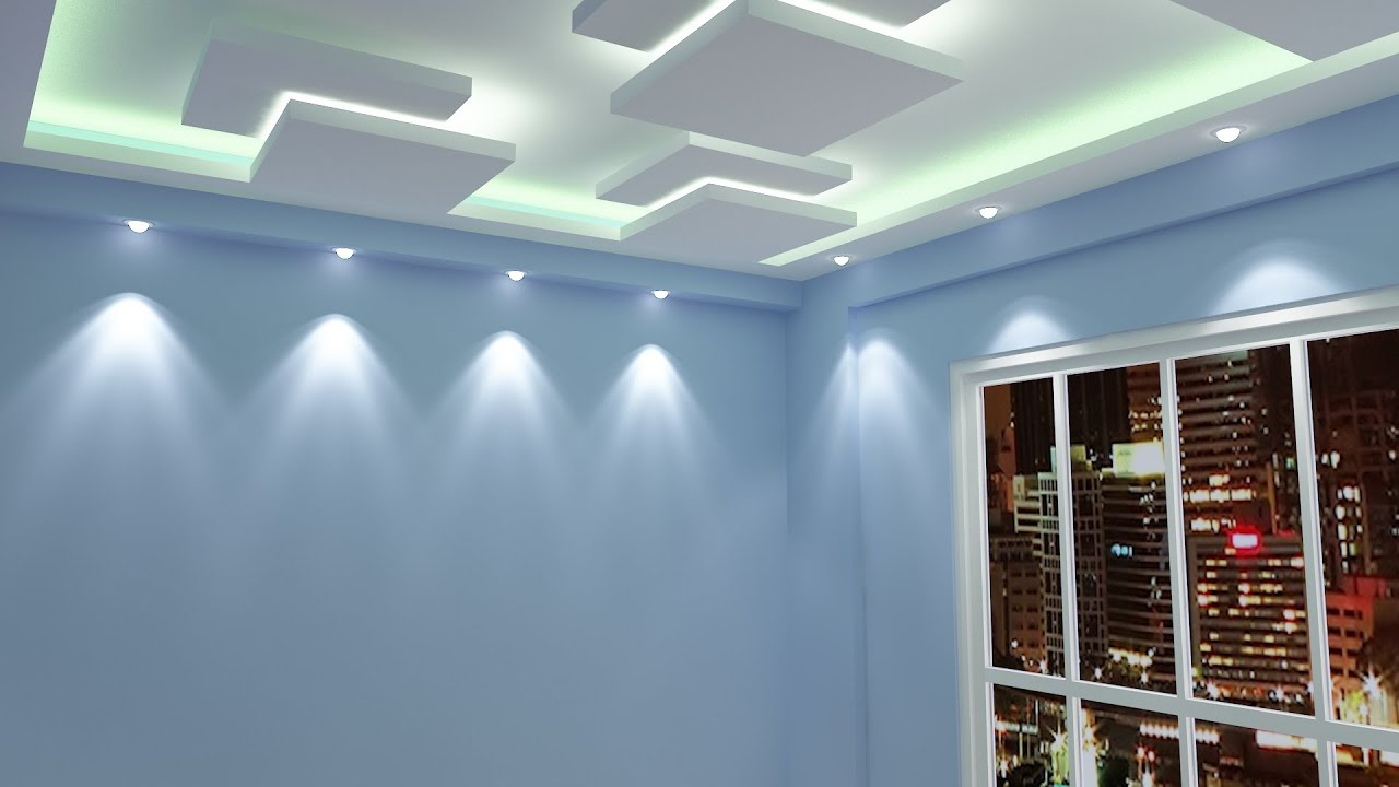 Lights In Bedroom Ideas Mr Tarun Biswas Flat Gypsum Board False Ceiling Designing