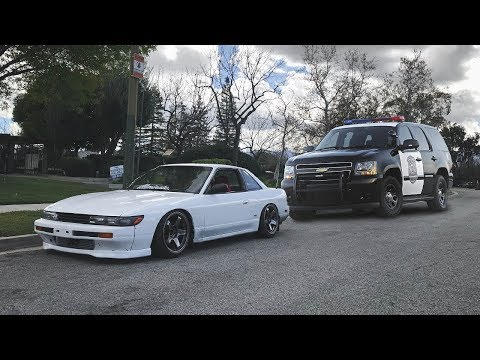 Running from the Cops in my S13 Silvia!