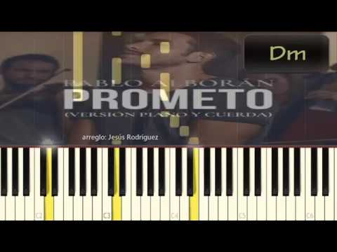 Pablo Alborán Prometo Piano Tutorial Cover Youtube