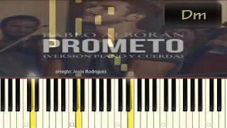 Prometo - Pablo Alborán (Tutorial / Cover Piano)