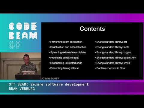 Off BEAM Secure software development -  BRAM VERBURG