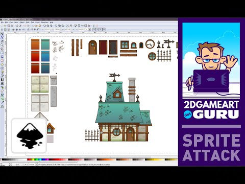 Build reusable 2d game assets (houses, streets, villages) with Inkscape