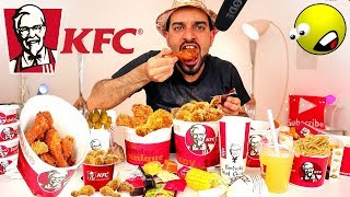 KFC Full Menu Challenge - ASMR Eating !