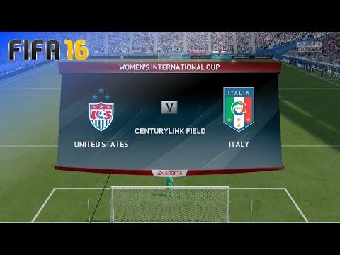 FIFA 16 - USA Women's Team vs. Italy Women's Team (Women's Int'l Cup - Match #13)