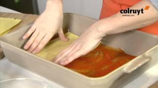 Recette Lasagne aux fruits de mer et au coulis de poivrons - Colruyt