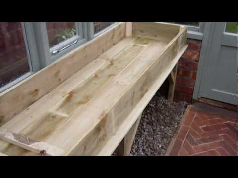8ft by 12ft Victorian-style timber greenhouse