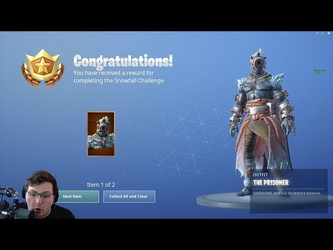 FIRST LOOK at the NEW PRISONER Skin in Fortnite - Unlocking The Prisoner from Snowfall Challenges thumbnail