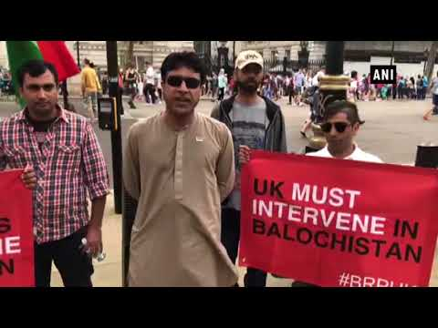 Baloch Republic Organisation protests in London against Human Rights violations by Pakistan