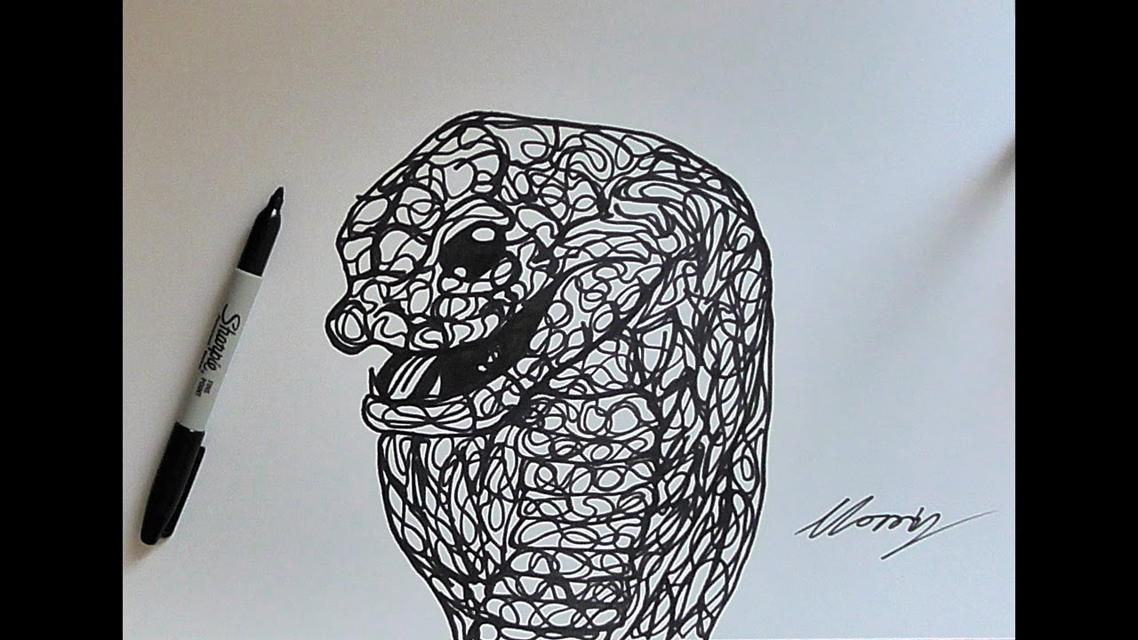 The Line Art Challenge : Drawing a cobra the one line challenge youtube