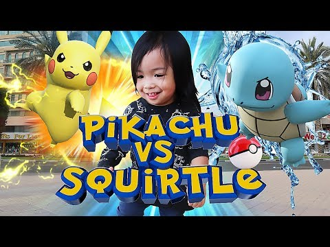 Pokemon in Real Life - Pikachu vs Squirtle