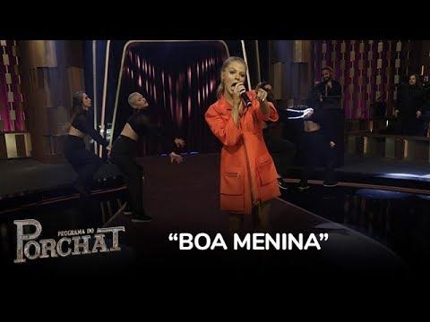 Luísa Sonza canta o hit Boa Menina no palco do Porchat