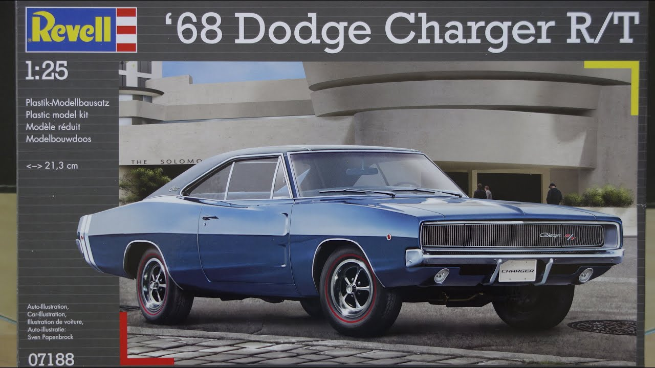 Revell Dodge Charger 1968 R/T part 2 The Build - YouTube