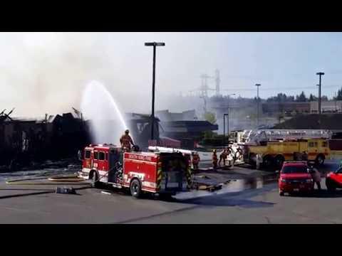 Federal Way Fire Fighters Battling a Huge Blaze