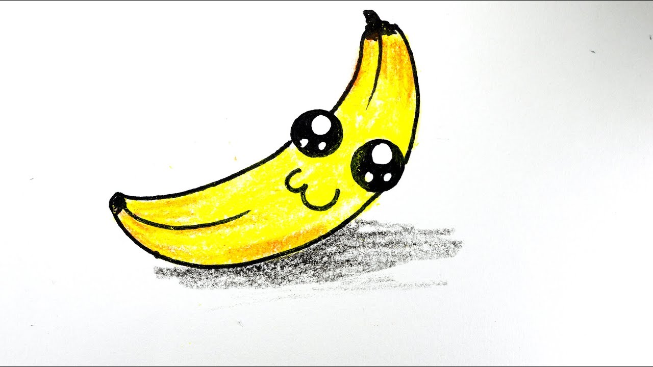 Картинки для срисовки маленькие картинки банан