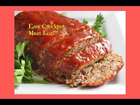 Fast | Easy Crockpot MeatLoaf