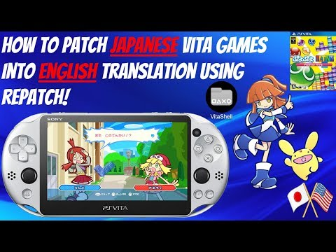 How To Patch Japanese Vita Games Into English Translation Using Repatch!