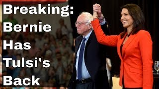Bernie Sanders Defends Tulsi Gabbard From Hillary Clinton and MSM