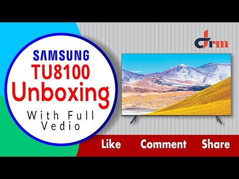 "Samsung 55TU8100 55"" 4K UHD Crystal TV 2020  Full Unboxing Video"