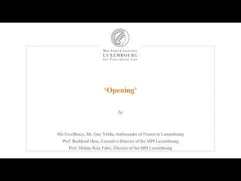 International Law and Litigation - Opening
