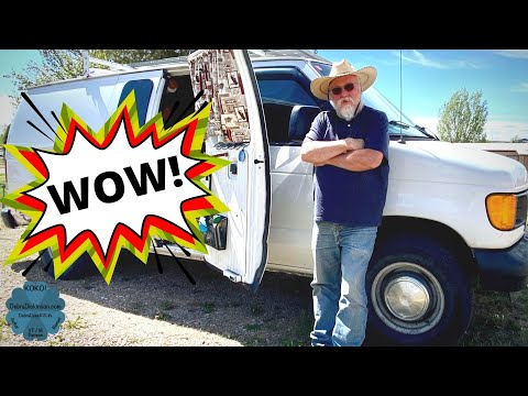 Tour of Robert's Cargo Van Camper Conversion: A $50 Total Remodel for Fancy Free