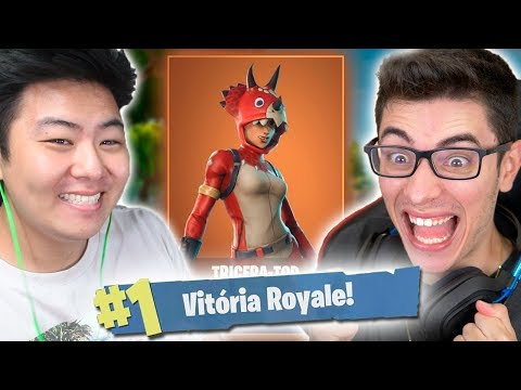 A DUPLA DOS TRICERA-TOPS ESTÁ INVENCÍVEL! feat. Flakes - Fortnite Battle Royale