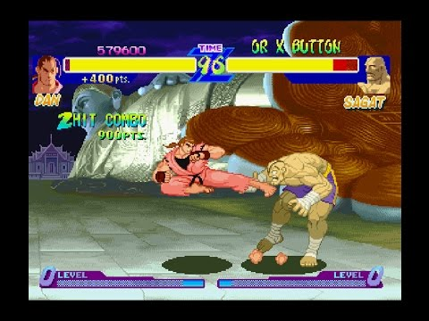 Street Fighter Alpha 1 [PS1] - Play As Dan
