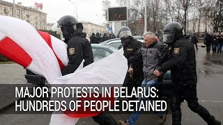 Major Protests in Belarus  Hundreds of People Detained