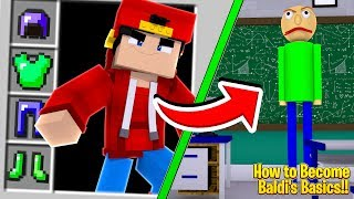 Minecraft - HOW TO BECOME BALDI FROM BALDI