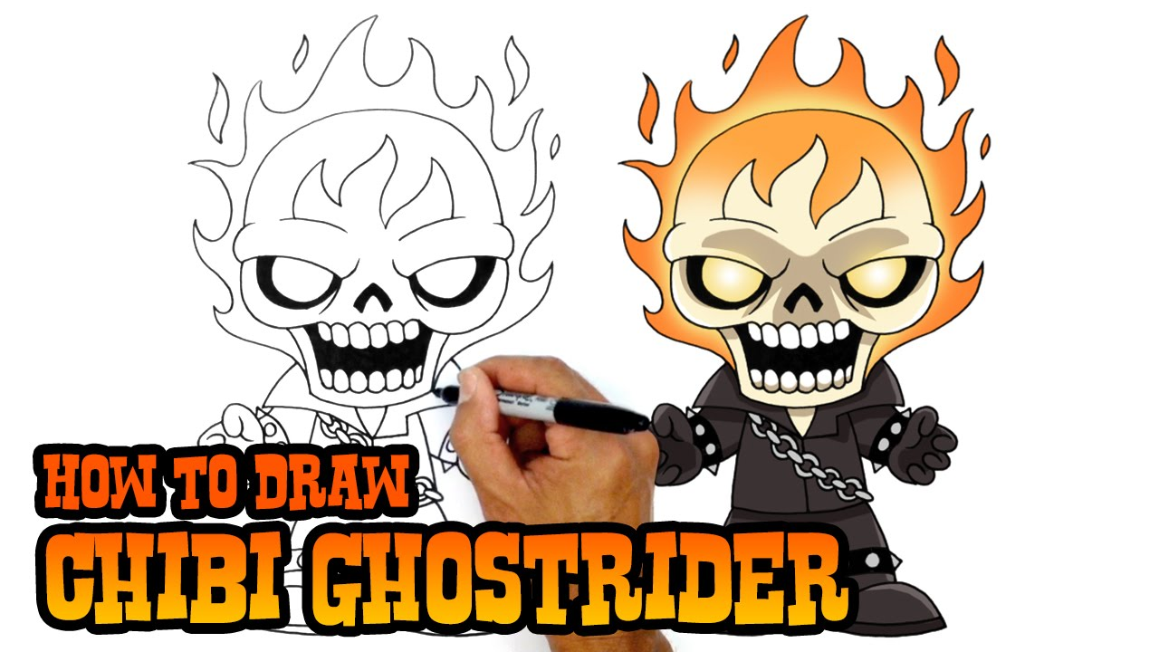 How To Draw Ghostrider Marvel Comics Youtube