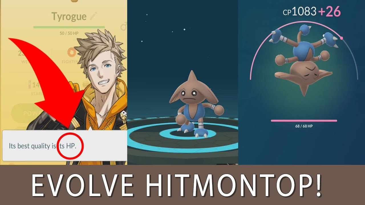 how to evolve hitmontop in pokemon go tyrogue evolution
