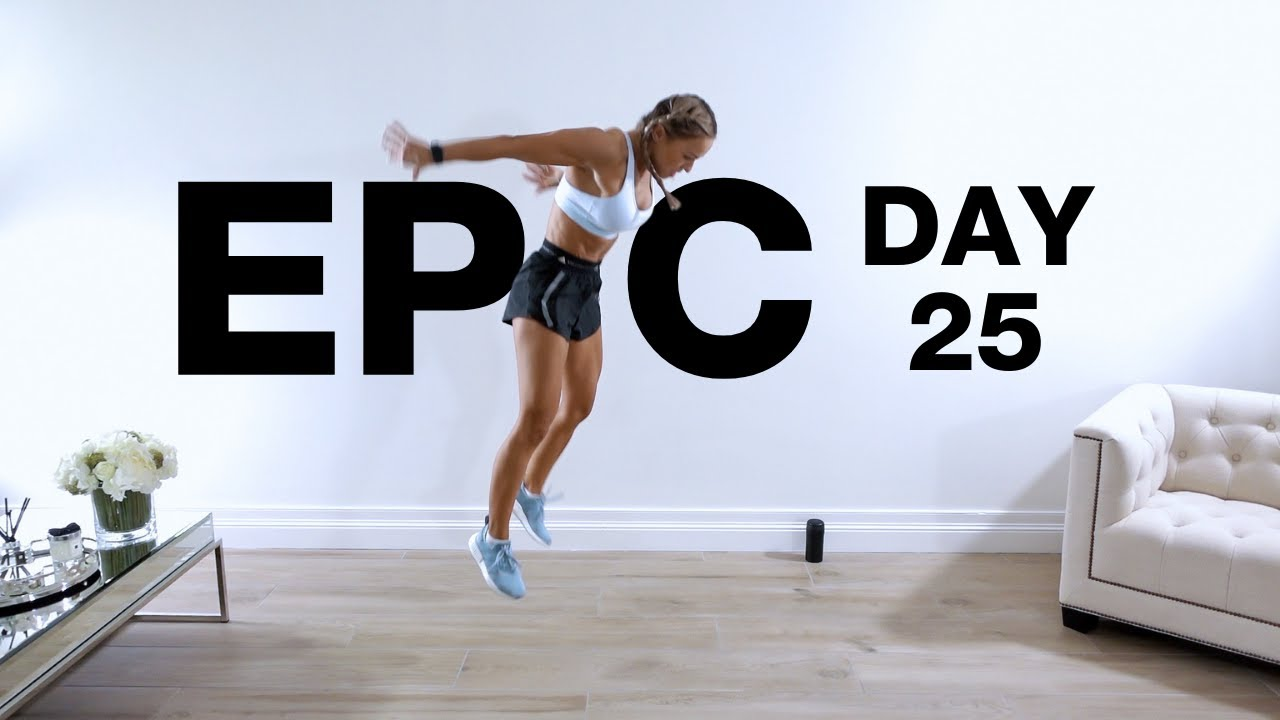 Day 25 of EPIC | HIIT Full Body Workout [60 EXERCISES NO REPEAT]