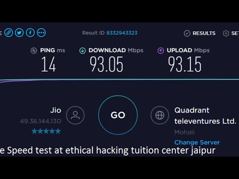 JIO GigaFiber Live  Network Speed Test