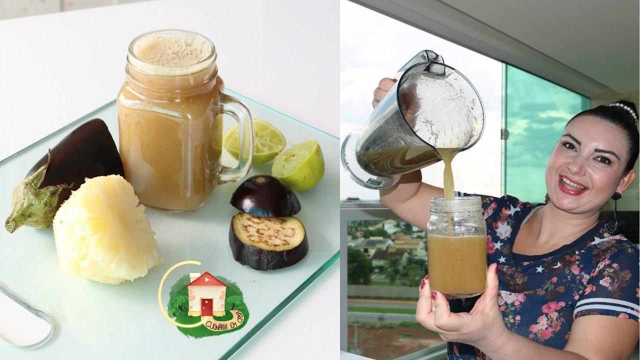 Bebida de Beringela que vai derreter sua gordura e eliminar o estomago alto