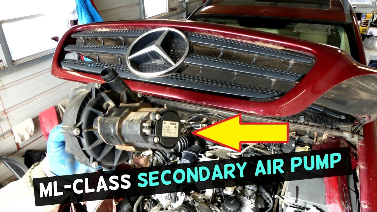 [GJFJ_338]  MERCEDES W163 SECONDARY AIR PUMP REPLACEMENT ML320 ML430 ML500 V6 V8 -  YouTube | Second Fuel Filter Ml 350 |  | YouTube