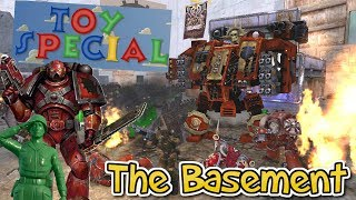 Warhammer 40k vs Green Army Men - TOY BATTLE - Who will win ? - Army Men of war --SPECIAL--