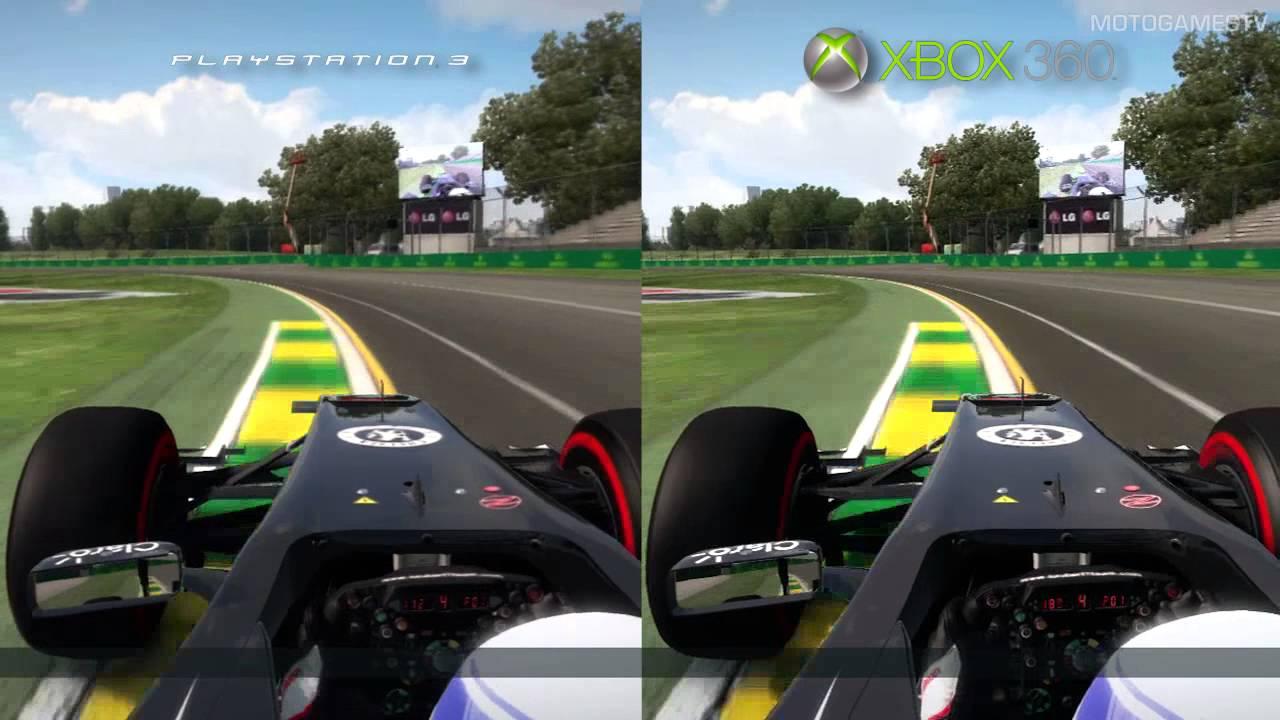 F1 2013 - PS3 vs Xbox 360 - Graphics Comparison