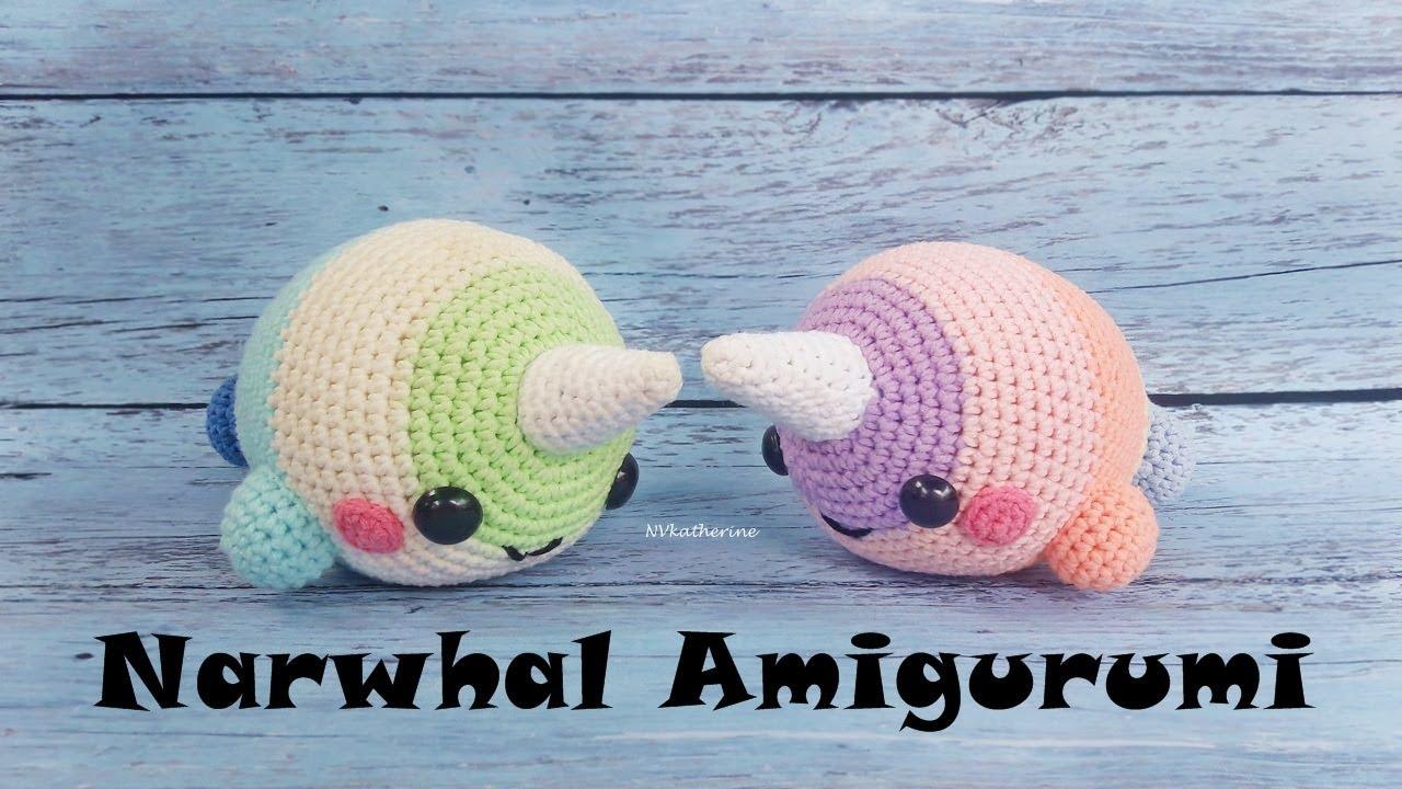 Narwhal Amigurumi Crochet [FULL TUTORIAL]   DIY Amigurumi - YouTube