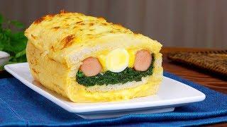 Пирог Из Хлеба На Скорую Руку. Сытный И Очень Простой Рецепт.