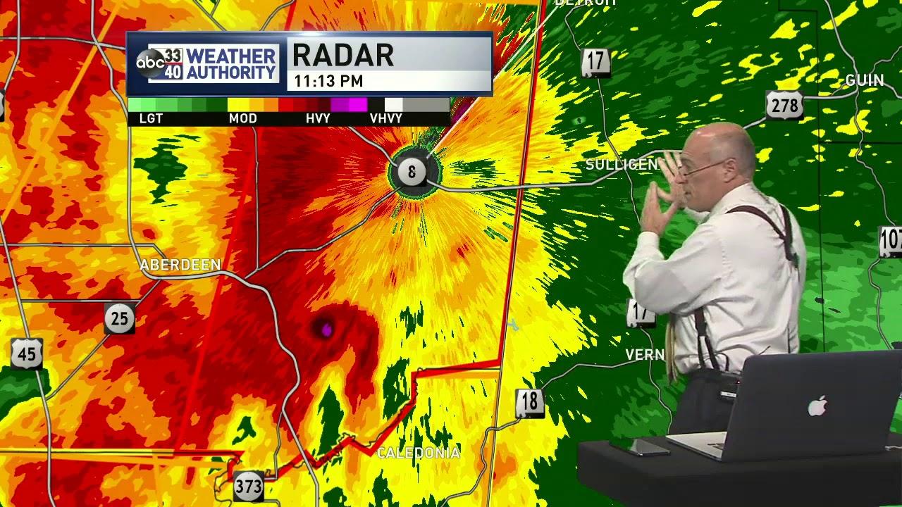 April 14, 2019 Alabama Severe Weather Coverage - ABC 33/40